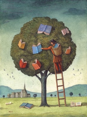 Illustrations-about-books-Mariusz-Stawarski-The-Library